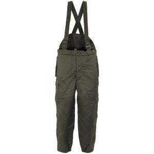 Kalhoty zateplené RAKOUSKÉ termo na kšandy ZELENÉ
