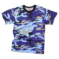 Triko ELECTRIC BLUE CAMO