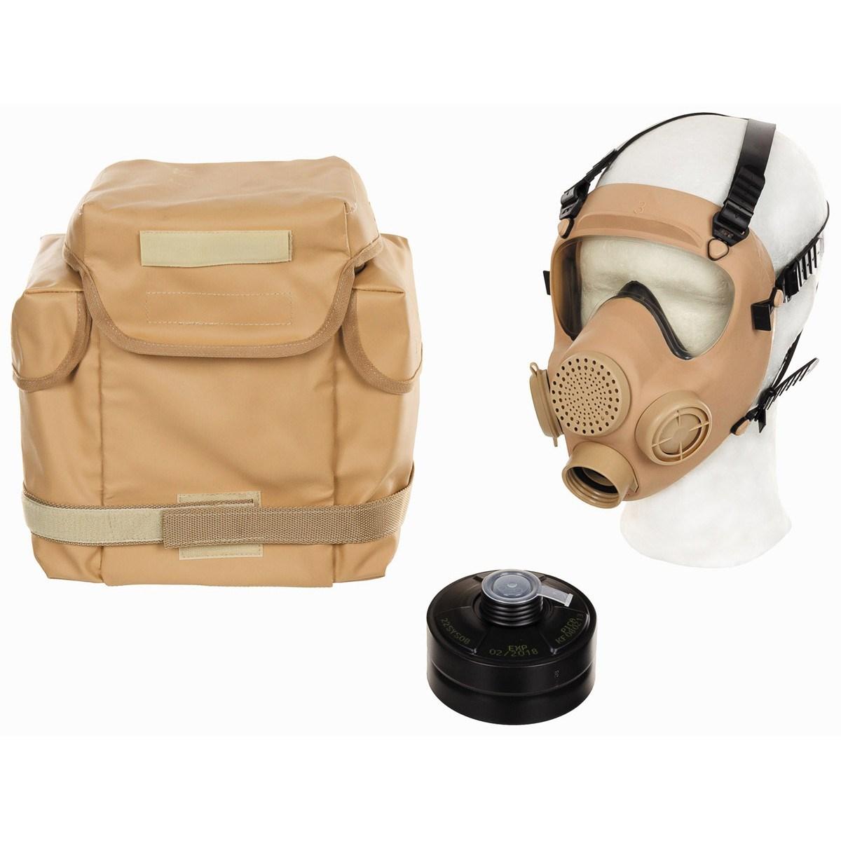 Maska polská MP5 kompletní s filtrem a brašnou DESERT