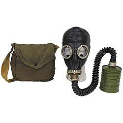 Maska plynová ruská typ SchM-41M s taškou ÈERNÁ