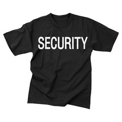 Triko s nápisem na hrudi SECURITY ÈERNÉ