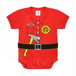 Body dìtské FIREMAN UNIFORM ÈERVENÉ
