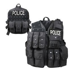 Vesta POLICE taktická zásahová se sumkami ÈERNÁ