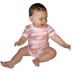 Body dìtské BABY PINK CAMO