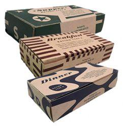 Krabice US papírové na jídlo (prázdný obal) WWII 1 ks