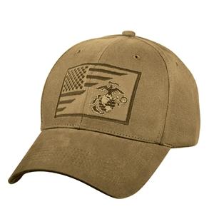 Èepice s vyšitým znakem U.S.M.C. a US vlajky COYOTE