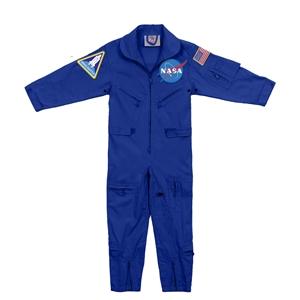 Kombinéza dìtská NASA s nášivkami MODRÁ