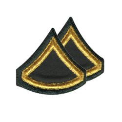 Nášivka hodnosti ARMY PRIVATE FIRST CLASS pár