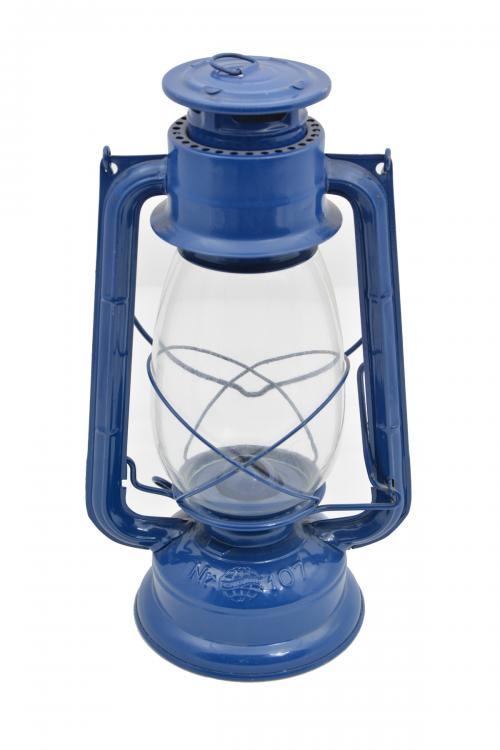 Lampa petrolejová METALOGLOBUS Nr.107 MODRÁ