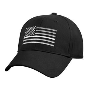 Èepice US vlajka s bílou linkou ÈERNÁ