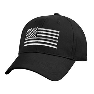 Èepice US vlajka se støíbrnou linkou ÈERNÁ