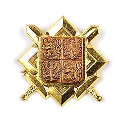 Odznak AÈR znak a meèe zlatý