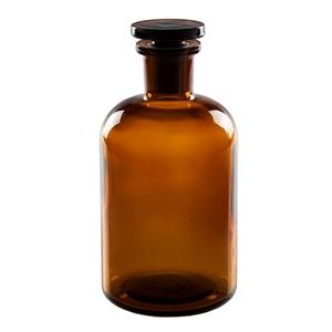 Láhev sklenìná s broušeným hrdlem 1000 ml HNÉDÁ