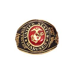 Prsten U.S.M.C - MARINES DELUXE èervený se znakem