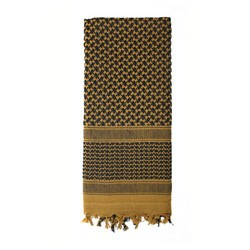 Šátek SHEMAGH 105 x 105 cm HNÌDO-ÈERNÝ