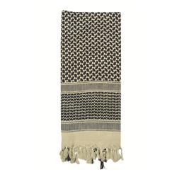Šátek SHEMAGH 105 x 105 cm KHAKI