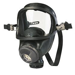 Maska plynová MSA AUER uchycení pro helmu použitá