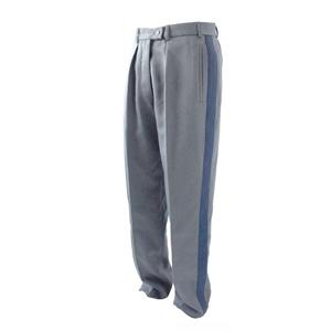 Kalhoty hradní stráže šedé s modrým pruhem
