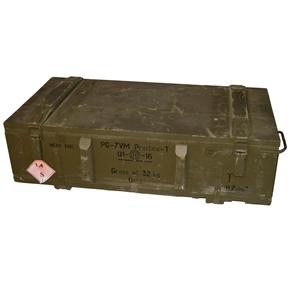 Bedna døevìná od munice PG 7 použitá
