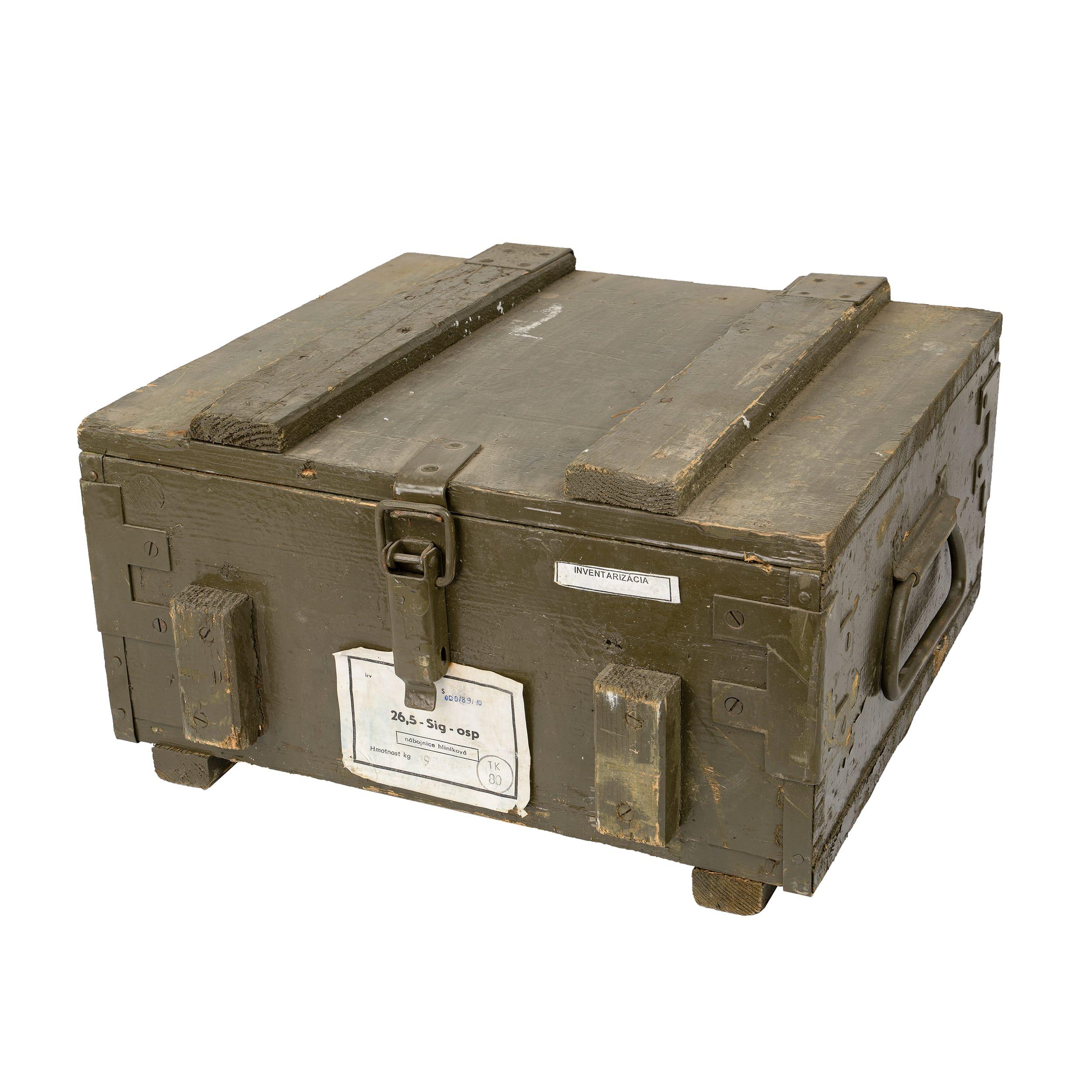 Bedna døevìná od nábojnic Sig 40x40x22 cm použitá
