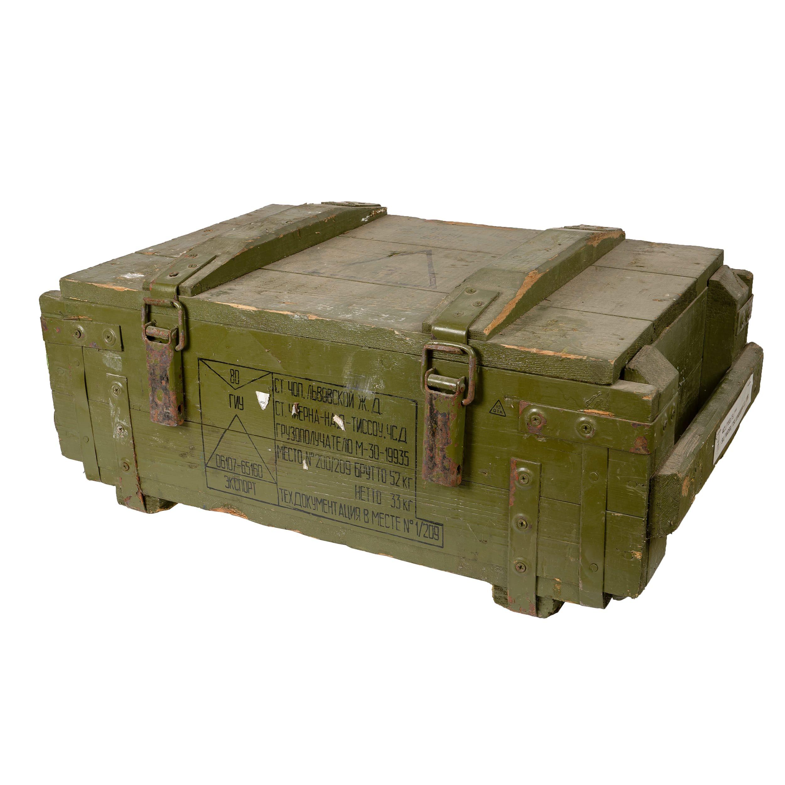 Bedna døevìná od munice ruská použitá