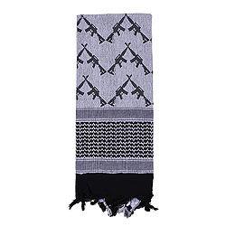 Šátek SHEMAGH CROSSED RIFLES 107 x 107 cm BÍLO-ÈERNÝ