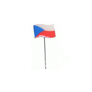 Odznak vlající státní vlajka ÈR barevná na špendlíku
