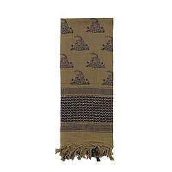 Šátek SHEMAGH 107 x 107 cm GADSDEN SNAKE ZELENÝ