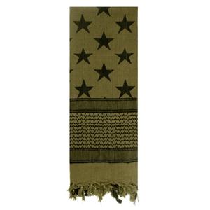 ��tek SHEMAGH vlajka USA - hv�zdy a pruhy ZELEN�