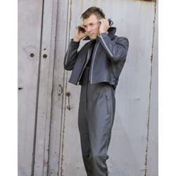 Kalhoty BW U-BOOT kožené se šlemi ŠEDÉ použité
