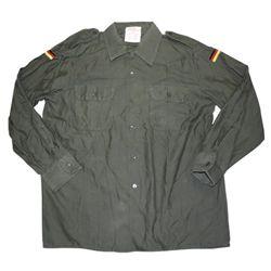 Košile BW polní ZELENÁ použitá (do vel.L)