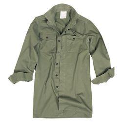 Košile britská polní dl. rukávy ZELENÁ použitá