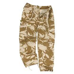 Kalhoty britské polní DPM DESERT použité (pas do 70cm)