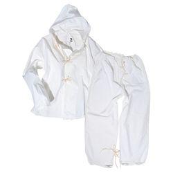 Pøevlek ITALSKÝ do snìhu kalhoty bunda BÍLÝ použitý