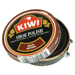 Krém na boty KIWI 50 ml HNÌDÝ