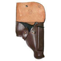 Pouzdro pistolové MAKAROV kožené HNÌDÉ použité