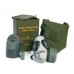 Maska plynová US M9A1 s filtrem a obalem