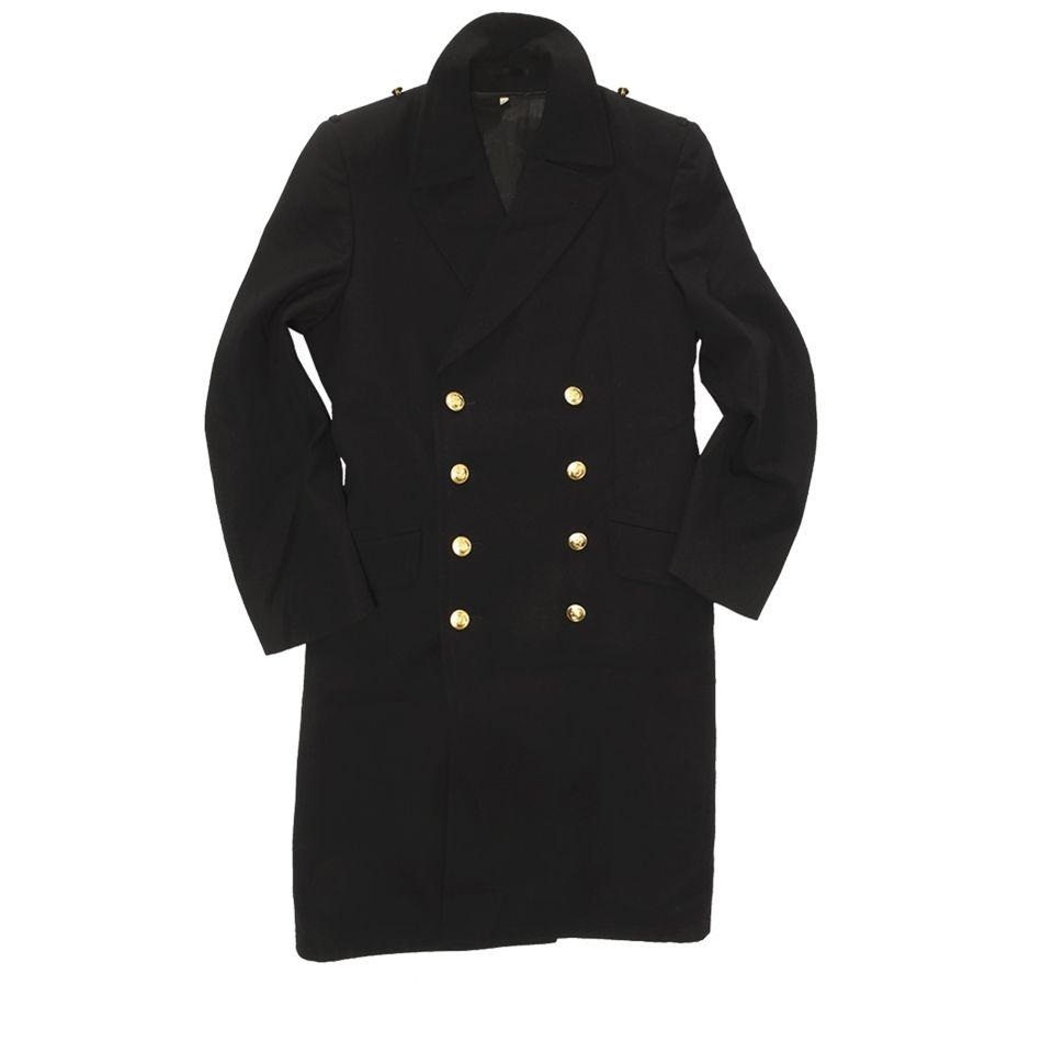 Kabát NAVY BW se zlatými knoflíky MODRÝ