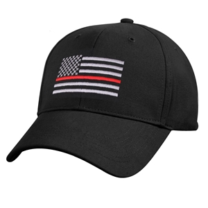 Èepice US vlajka s èervenou linkou ÈERNÁ