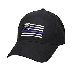 Èepice baseball US vlajka s modrou linkou ÈERNÁ
