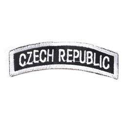 Nášivka oblouèek CZECH REPUBLIC - ÈERNOBÍLÝ