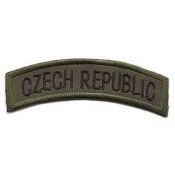 Nášivka oblouèek CZECH REPUBLIC - OLIV