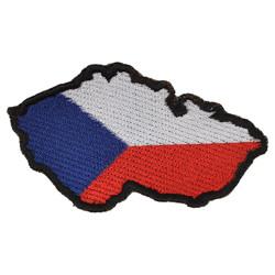 Nášivka MAPA ÈR uvnitø stání vlajka - BAREVNÁ