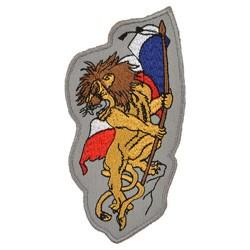 Nášivka ØVOUCÍ LEV s vlajkou ÈR - BAREVNÁ