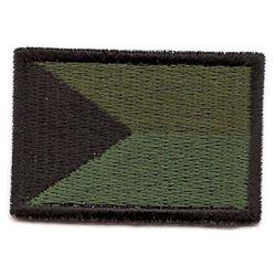 Nášivka ÈR vlajka støední ZELENÁ (56mm)