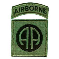doprodej Nášivka 82d AIRBORNE DIVISION velcro OLIV