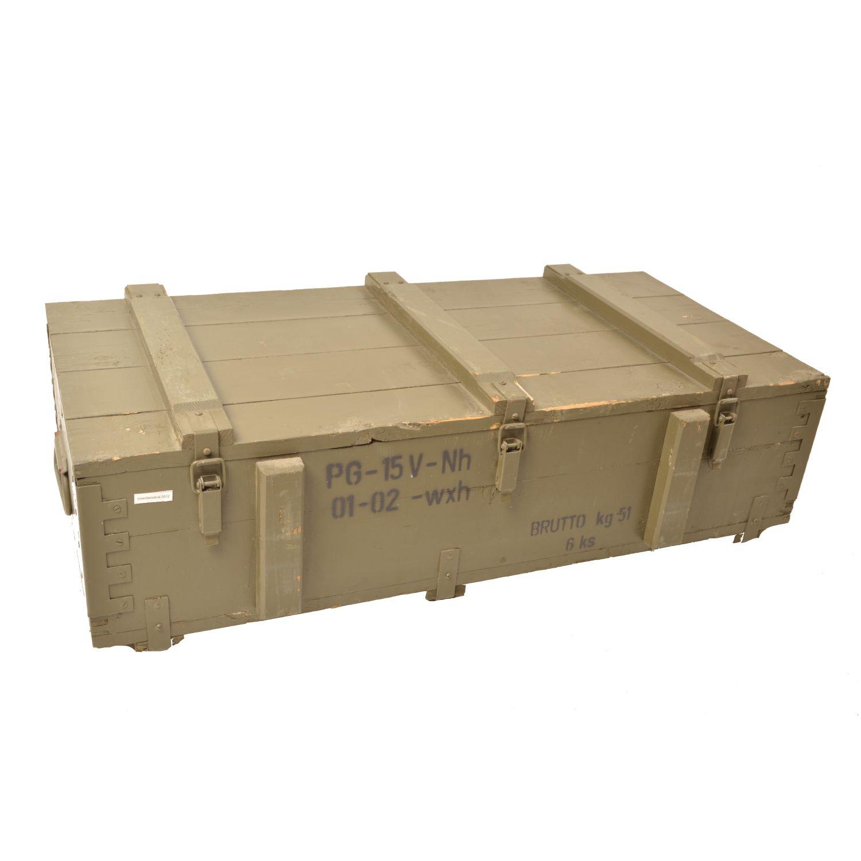 Bedna døevìná od munice PG 15 použitá