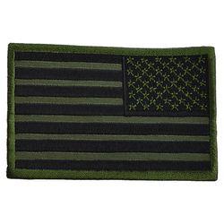 Nášivka vlajka USA reverzní - OLIV