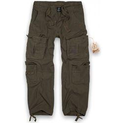 Kalhoty PURE vintage ZELENÉ