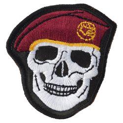 Nášivka LEBKA baret v barvì VÍNOVÉ